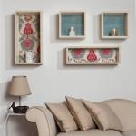 dekoratif kutu duvar raflari
