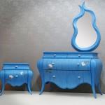 dekoratif mavi desenli konsol modeli
