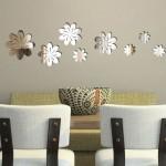 dekoratif modern sticker ayna modelleri