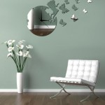 dekoratif saatli ayna sticker modelleri