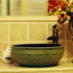 dekoratif seramik banyo lavabolari
