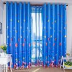 erkek cocuk odasi mavi desenli perde