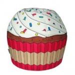 kek seklinde dekoratif cocuk puf modeli