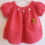 kislik orgu bebek elbisesi