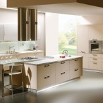 krem rengi modern ada mutfak modeli