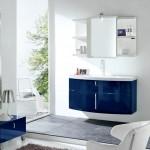 mavi modern banyo dolabi