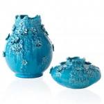 mavi porselen vazo