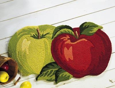 meyve sekilli mutfak paspas modeli