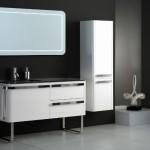 modern beyaz banyo dolabi