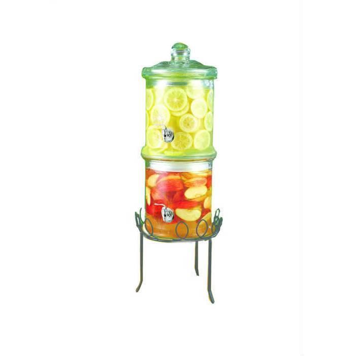 Musluklu dekoratif cam sebil