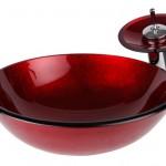 rengarenk modern cam lavabo modelleri