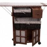 Sepetli dolaplı ütü masası