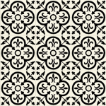 siyah beyaz desenli dekoratif karolar
