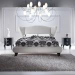 siyah beyaz italyan yatak odası modeli