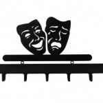 siyah dekoratif Maske Aski