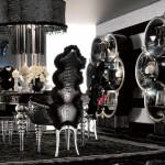 siyah etkileyici yemek odasi modeli 2015