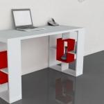 tarz mobilya valancia beyaz kirmizi calisma masasi