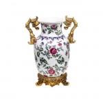 tepe home seramik desenli dekoratif vazo