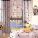 tiggers desenli erkek cocuk odasi perde modeli