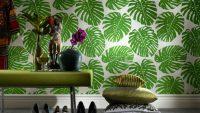 Rengarenk Çiçek Desenli Duvar Kağıtları 2015