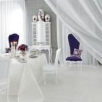 yeni beyaz italyan tasarimi yemek odasi