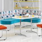 yeni moda renkli mutfak kose takimi modelleri