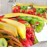 Meyve desenli 3D nevresim