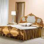 altin rengi lux yatak odasi modeli