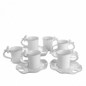 bernardo kuslu beyaz kahve fincanlari