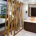 dekoratif bambu paravan modeli