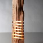 dogal ahsap dekoratif lambader