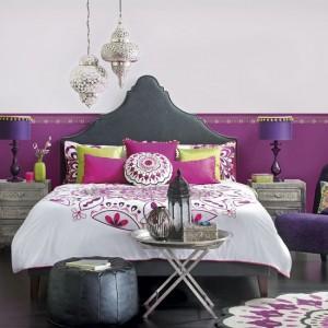 etnik dekorlu yatak odasi