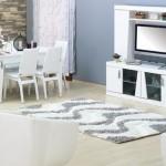 kilim beyaz modern yemek odasi