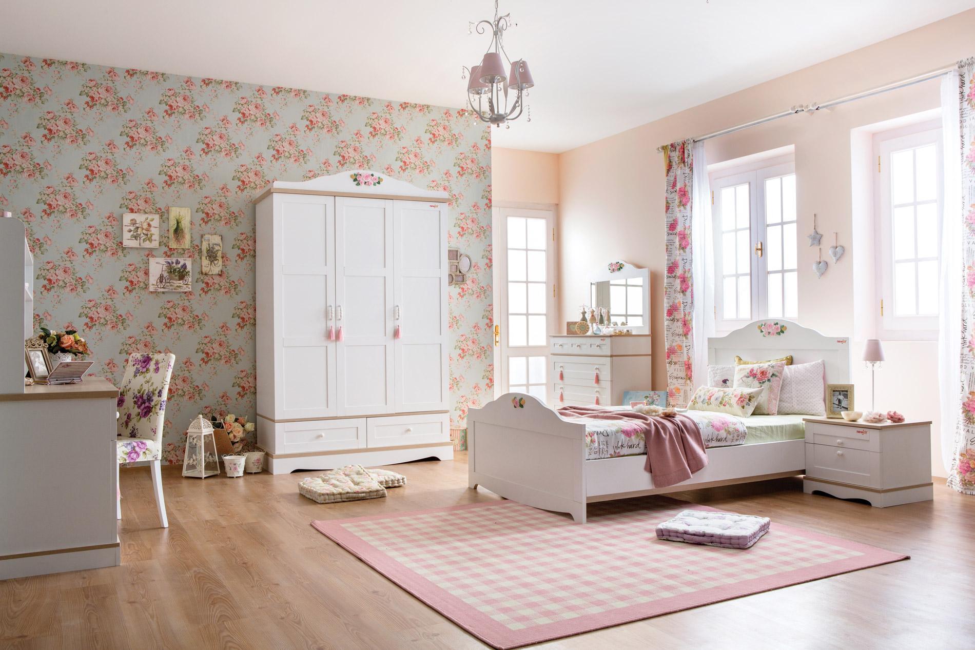 Newjoy beyaz laura genç odası