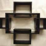 siyah dekoratif raf