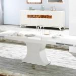 stella mobilya modern beyaz yemek odasi