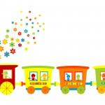 tren resimli bordur