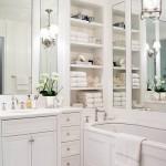 vintage beyaz banyo dolaplari