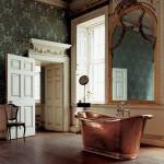 vintage kuvetli banyo dekorasyonu