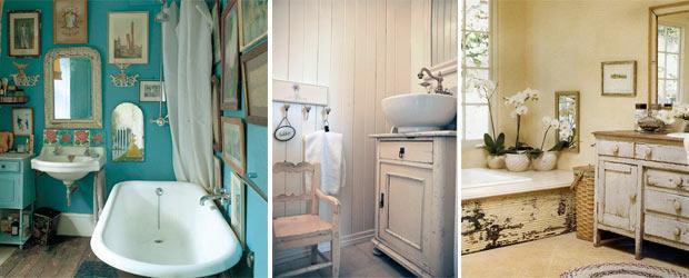 vintage tarzı banyolar