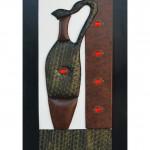 yeni trend dekoratif deri tablo