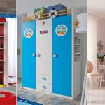 2017 Çilek çocuk odası gardırop modelleri