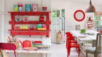 Mutfaklarda Bahar Renkli Dekorasyon Fikirleri 2015