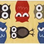 baykus desenli hali modeli