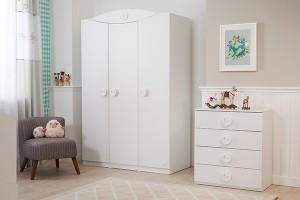beyaz cocuk odasi gardrop cilek mobilya