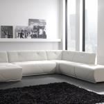 beyaz modern kose koltuk modeli
