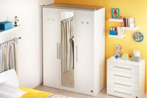 cilek beyaz cocuk odasi gardrop modeli