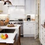 country tarzi beyaz mutfaklar