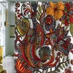 dekoratif banyo perdesi modelleri