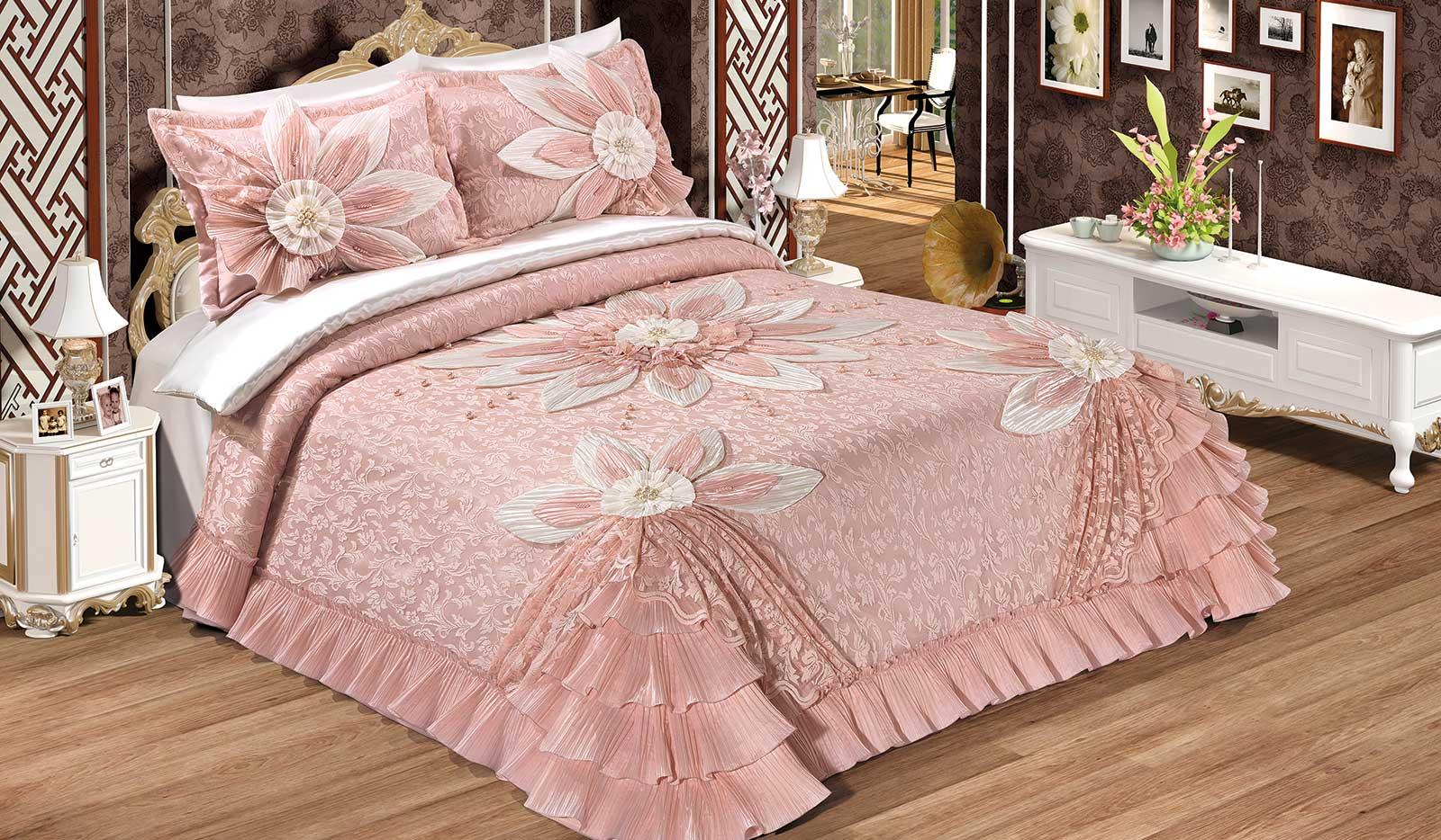 dekoratif ceyizlik yatak ortuleri